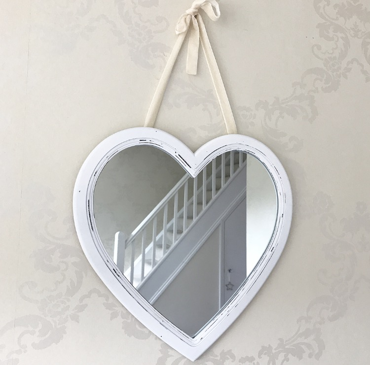 Large White Heart Mirror Little Love Of Mine